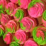 cupcake pink-green