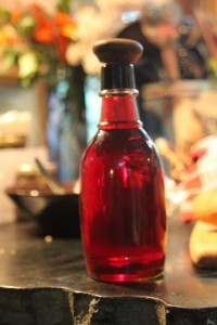 raspberry vinegar in kitchen
