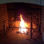The Monticello hearth ablaze 4-20-12