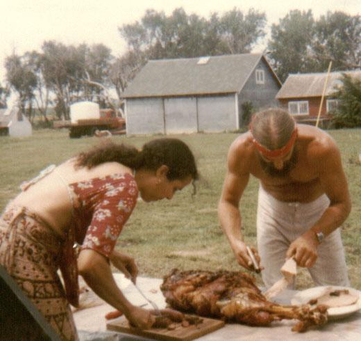 Leni's birthday party on the farm, South Dakota 1981