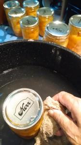 washing the jars