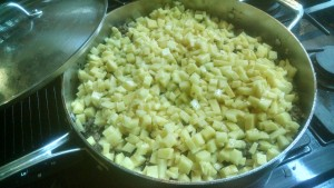 4 - add diced potatoes